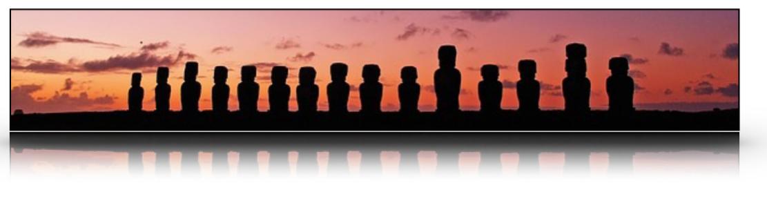Las gigantes estatuas de la isla de pascua