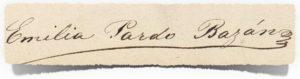 Firma de Emilia Pardo Bazán