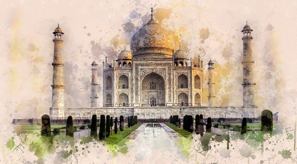 Pintura del Tal Mahal